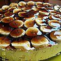 Dessert caramel banane