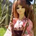 Liselle dans son nouveau yukata.