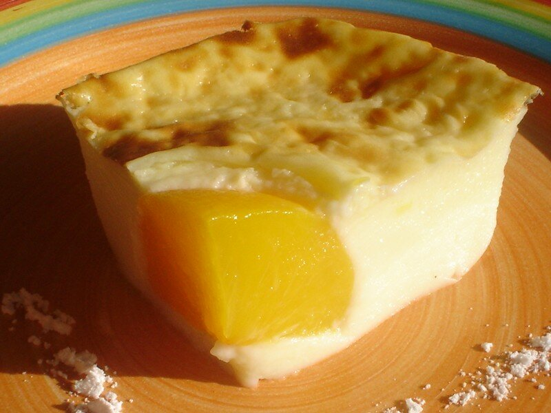 Flan aux p ches cuisson micro onde blog coconut foodisterie et cuisine home made - Flan patissier avec farine ...