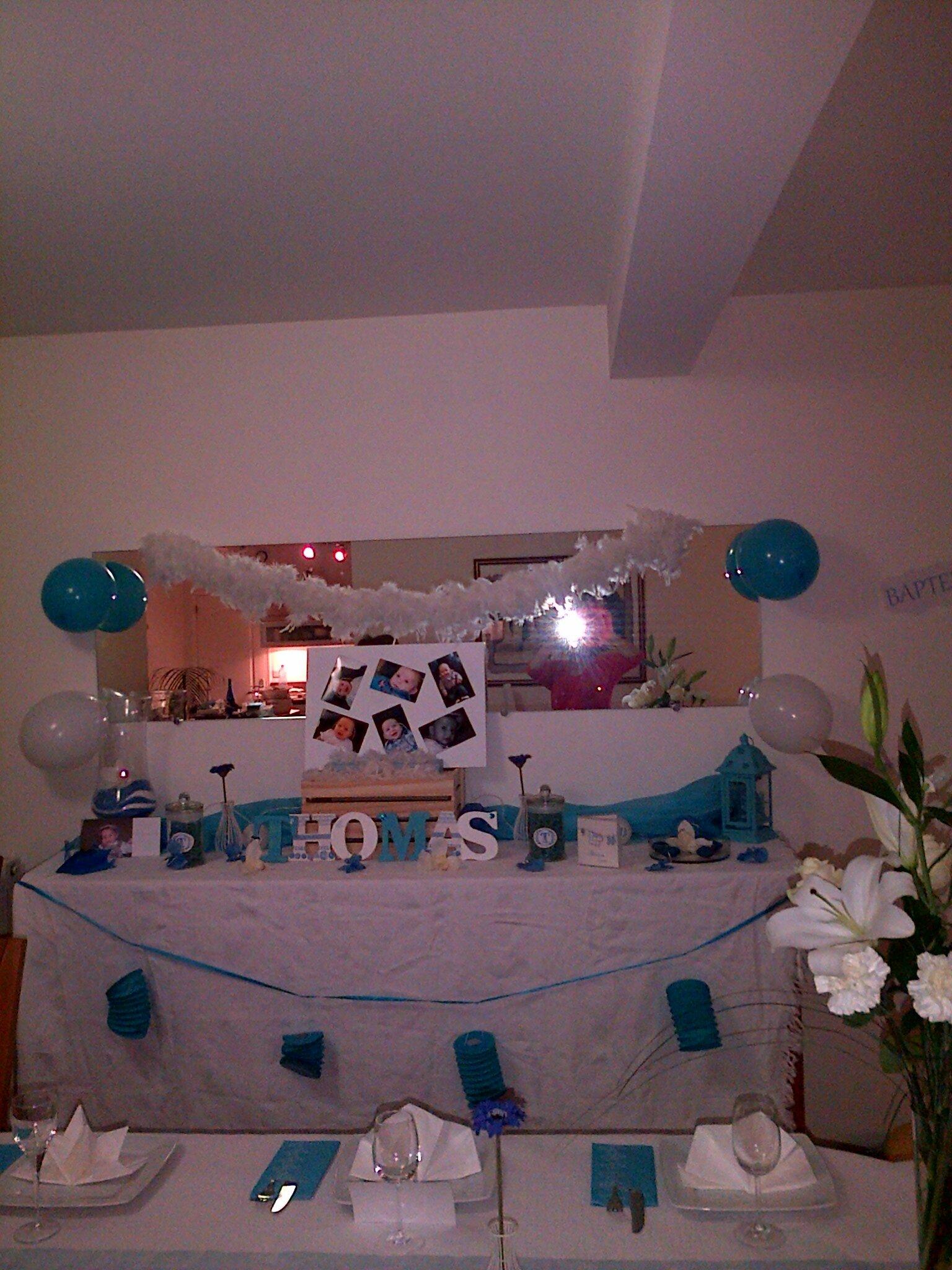 Deco bapteme garcon bleu et blanc - Decoration bapteme garcon ...