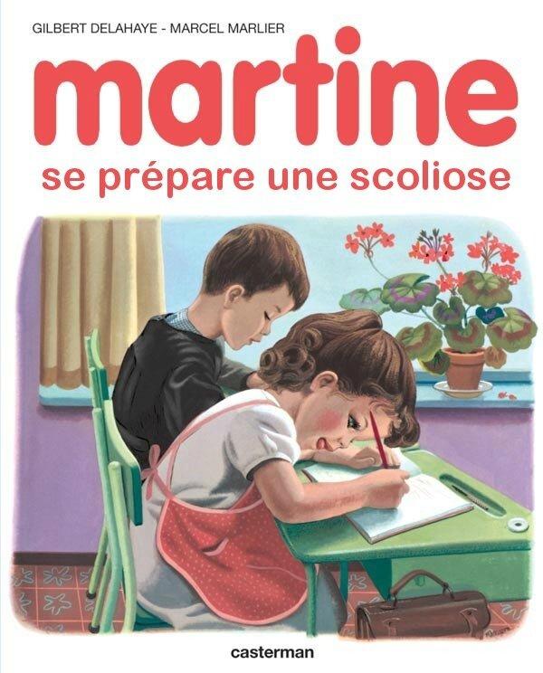Martine se prépare une scoliose