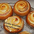 Spirales brioches jambon-fromage 4.26 euros pour 6 personnes ( 12 belles spirales).