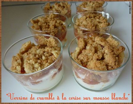 verrine crumble cerise multiple