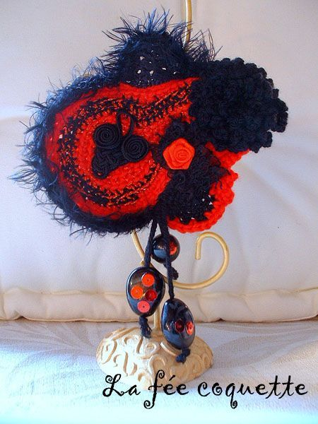 broche freeform flamenco copie (Taille réelle)
