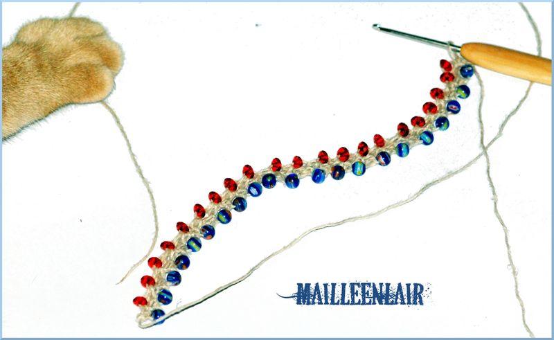 Perles et crochet maille en l 39 air - Crochet maille en l air ...