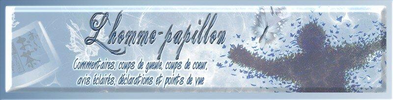 Bannière pour le blog de l'Homme-papillon