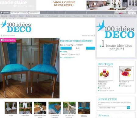 REPORTAGE 100IDEES DECO MARIE CLAIRE AOUT 2011