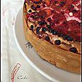 Gâteau aux fruits rouges & a la ricotta - torta a las frutas rojas & ricotta