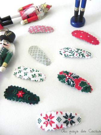 Barettes de Noël au pays des Cactus 5