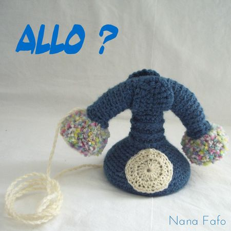 telephone au crochet allo