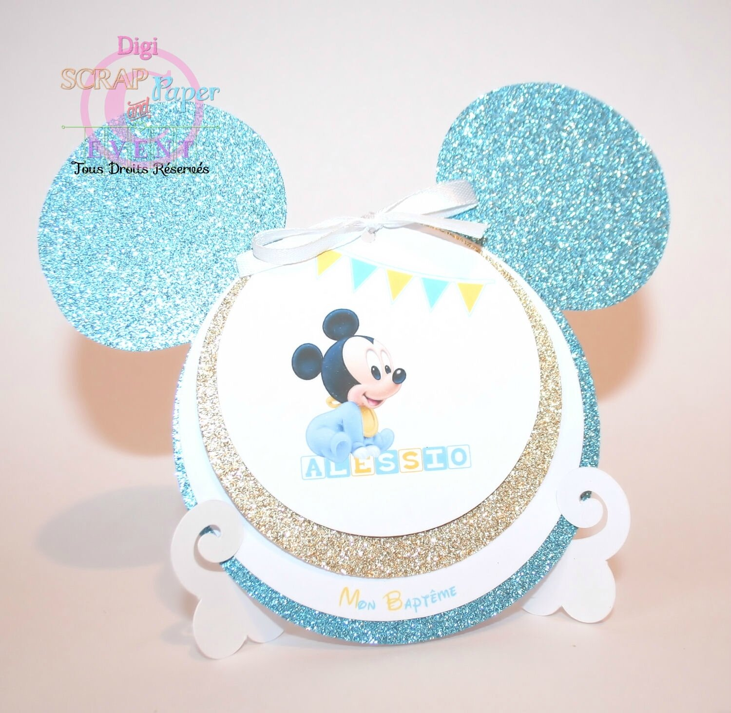 Fabuleux Faire-Part Mickey baby - Digi Scrap and Paper Event ZT48