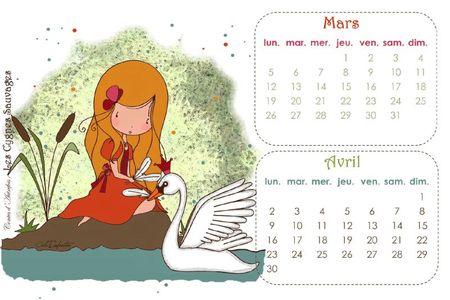 Calendrier MARS-AVRIL12