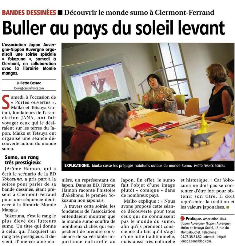article de journal La Montagne le 23 septembre 2013