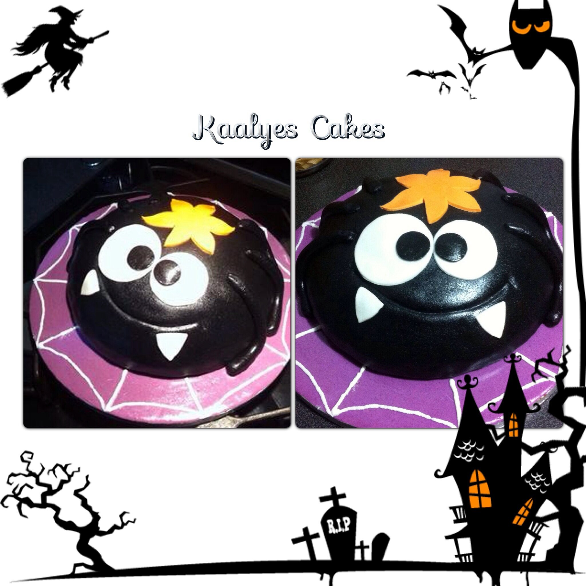l 39 araign e d 39 halloween photo de fondant cakes g teaux d co p te sucre kaalyes cakes. Black Bedroom Furniture Sets. Home Design Ideas