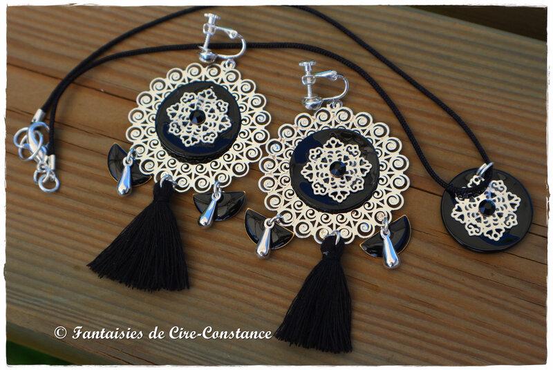 BO Violaine variante noire et collier assorti-2