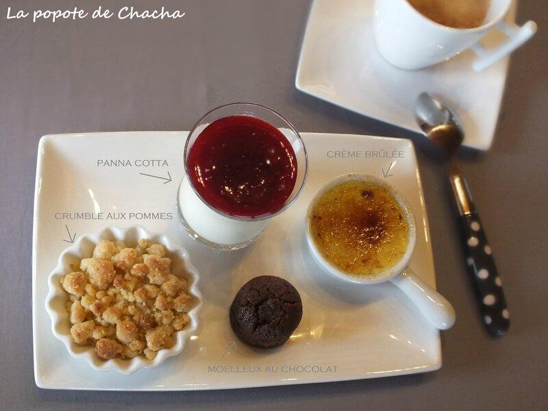 Mon caf gourmand la popote de chacha - Assiette rectangulaire pour cafe gourmand ...