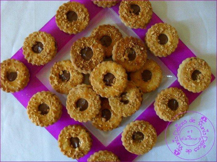 sablés cacahuètes coeur nutella 2