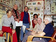 Woolie Reitherman, Milt Kahl, Ken Anderson, Dave Michener, Frank Thomas, Ollie Johnston et Larry Clemmons