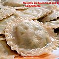 Raviolis au Saumon et aux Epinards
