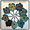 barretes fleur de soie