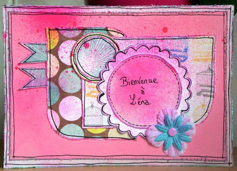 Carte de naissance Léna (Mamie Poussi) - Juillet 2013