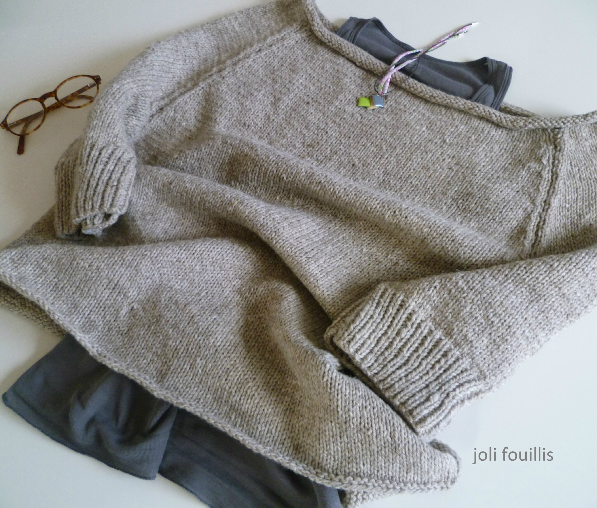 patron tricot pull loose