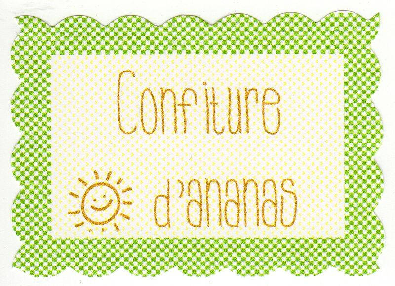 confiture d 39 ananas au comptoir des anges. Black Bedroom Furniture Sets. Home Design Ideas