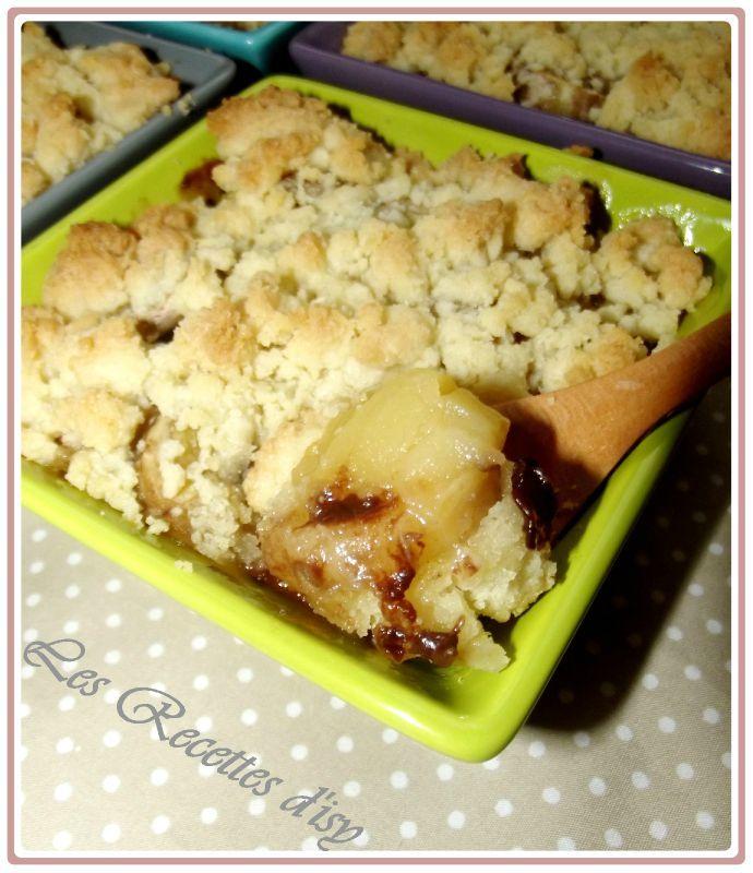 crumble pommes bananes choco2