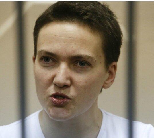 Aujourd'hui, la députée de la rada ukrainienne nadia savtchenko