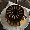 Chiffon cake à l'orange et chocolat