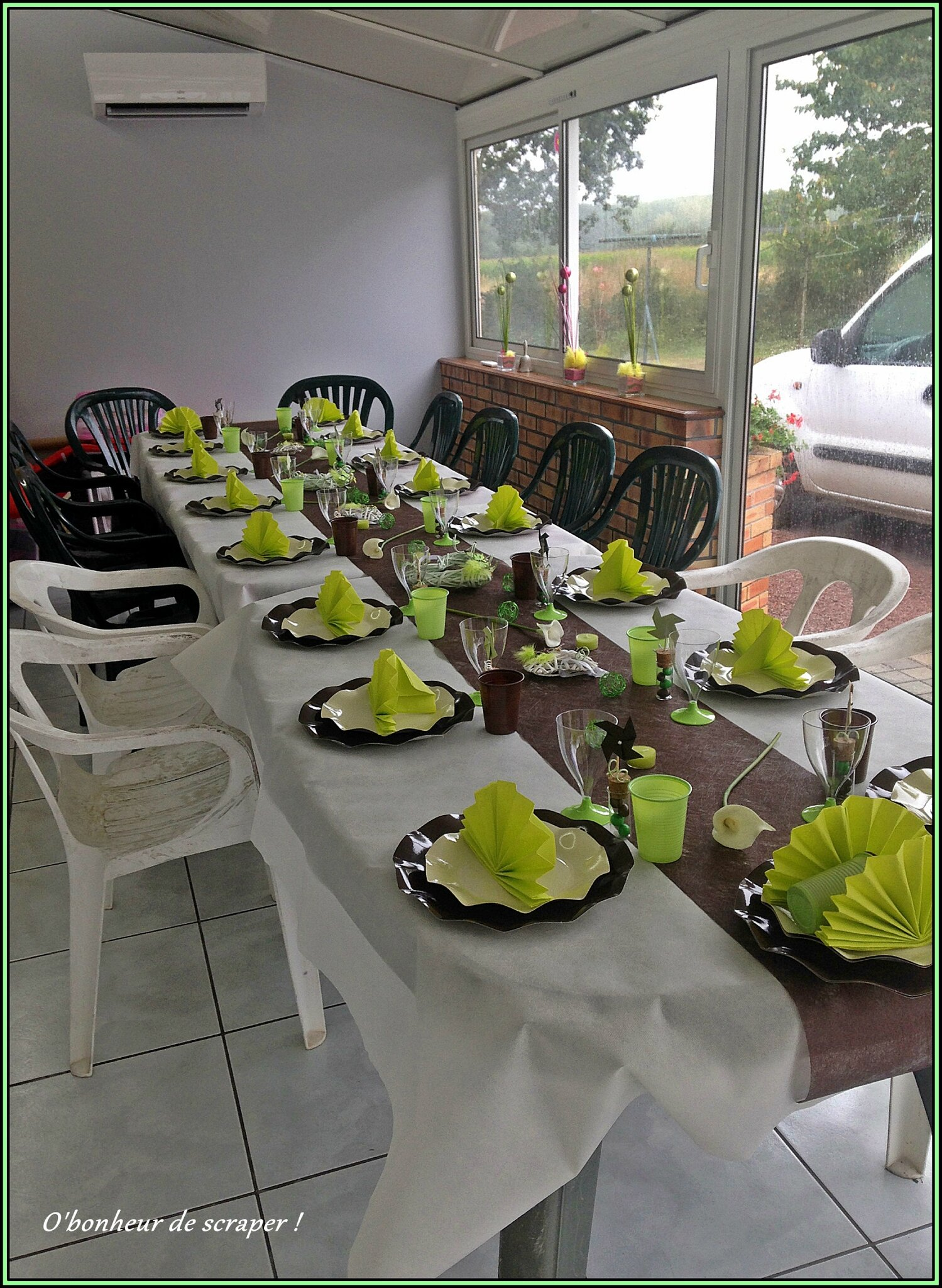 D coration de table th me nature o 39 bonheur de scraper - Deco de table theme nature ...