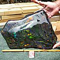 The largest opal matrix stone was found in the outback opal fields of south australia