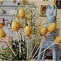 Bouquet d'oeufs pour une table de Pâques !