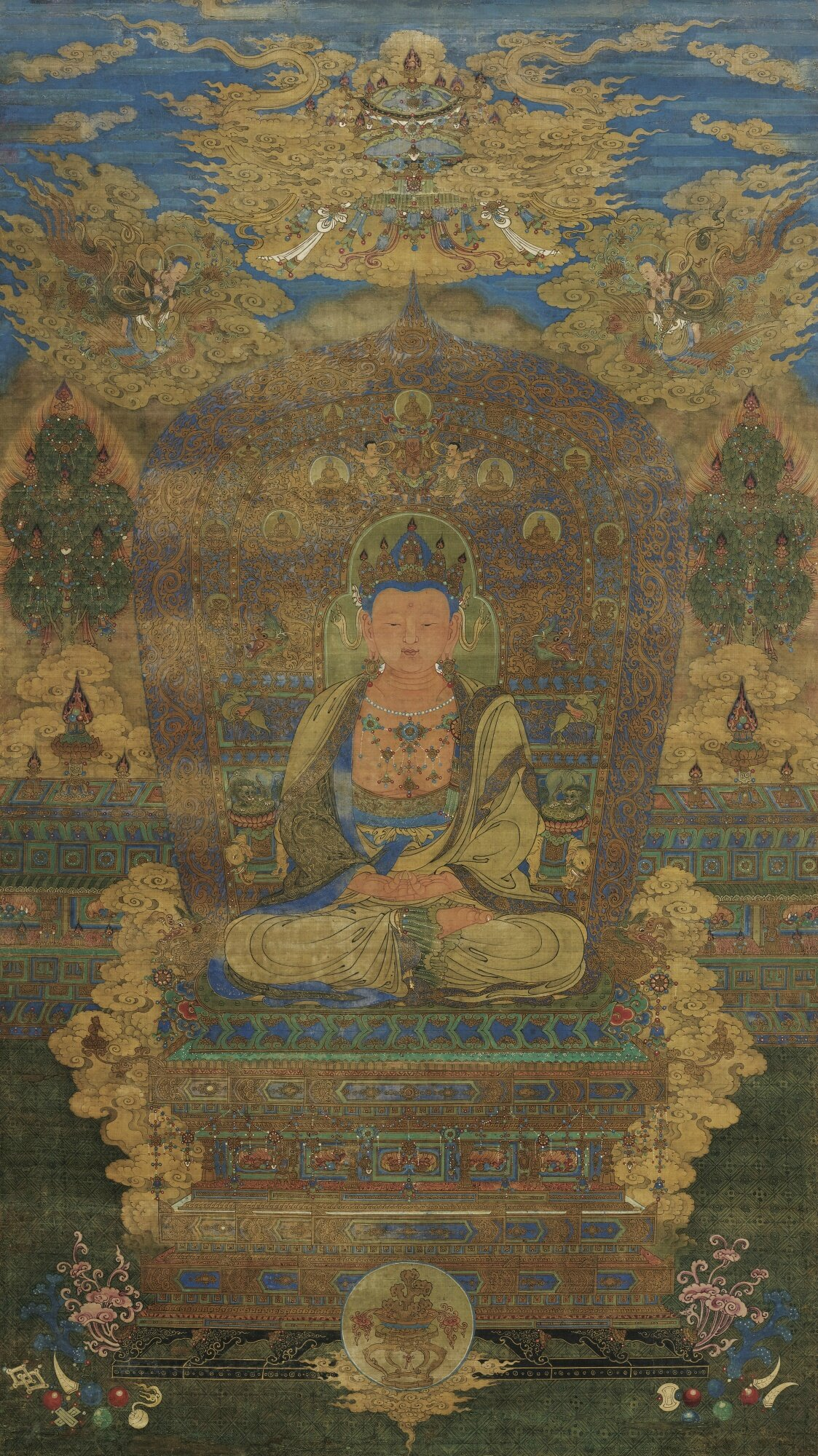 A Very Rare Painting Of A Buddha China Ming Dynasty