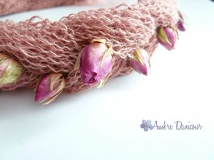 dawanda headband rose lin naturel image 3