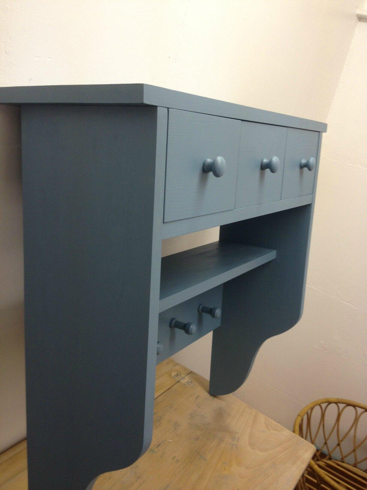 Porte manteau bleu gris la petite factory de julie for Porte manteau baumann