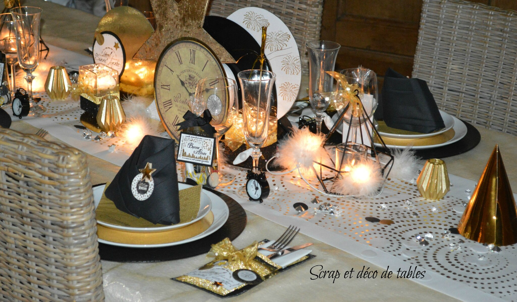 Deco de table nouvel an 2016 scrap et d co de tables - Decoration table reveillon jour de l an ...