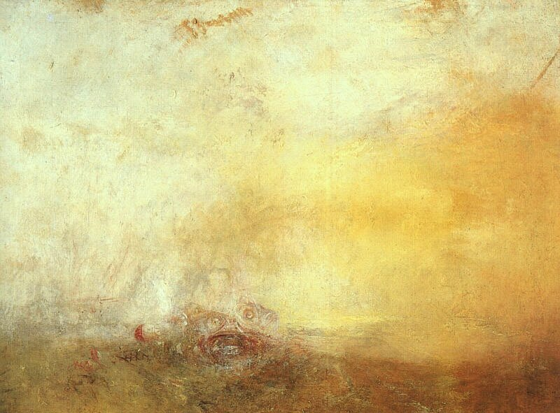 JMW Turner Sunrise with Sea Monsters