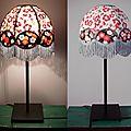 Lampe de chevet, abat-jour en papier népalais et