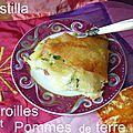 Pastilla au maroilles et pommes de terre