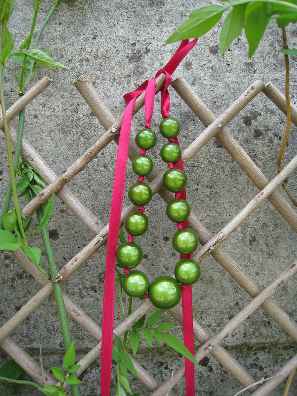Collier miracle olive framboise