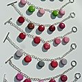 bracelets macarons