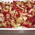 P'tit crumble rhubarbe et framboises