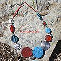 Collier bleu et rouge- 28$