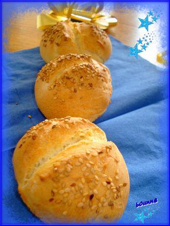 petits pains ronds au sésame