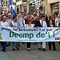 Lena Louarn et d'autres militants bretons