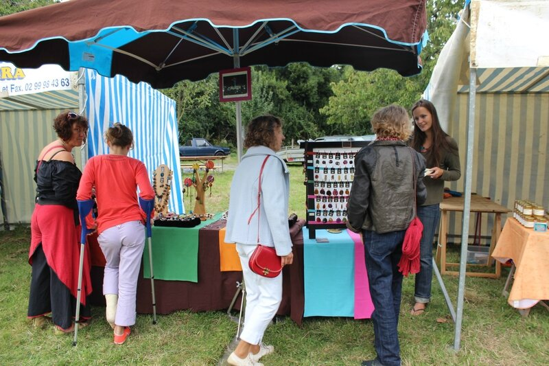 la Fête des Sens Avranches 2013 Quartier Nature ferme du Petit Changeons marché artisanal