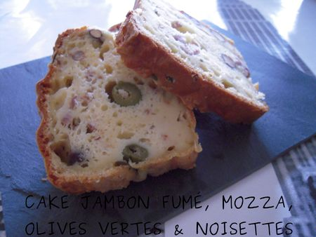 Cake Jambon Fum Mozza Olives Vertes Noisettes Au Thermomix Ou Pas Flagrants Delices By