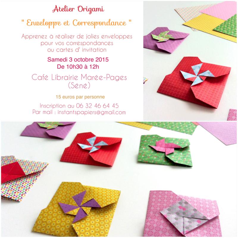 atelier enveloppe origami