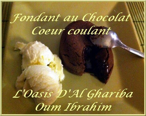 FONDANT AU CHOCOLAT COEUR COULANT. FRANCE